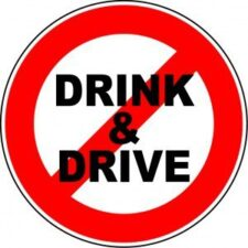 don't drink and drive sign