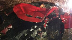 drunk driving ferrari crash