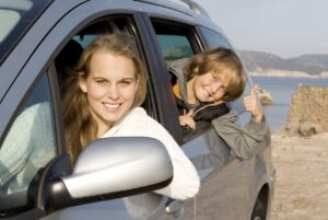 driving with kids