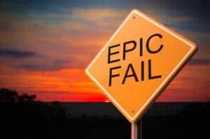 Epic fail sign - Texas DWI